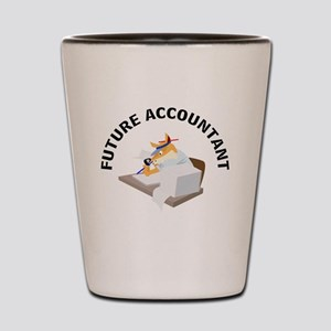 future accountant Shot Glass