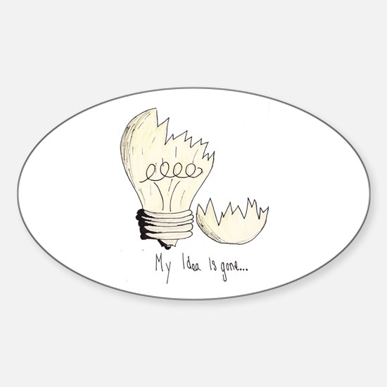 Broken Light Bulb Idea Decal