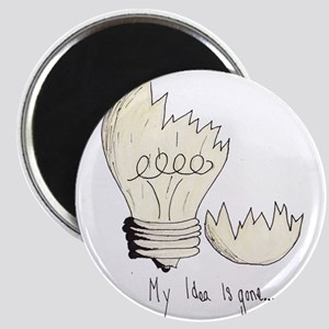 Broken Light Bulb Idea Magnets