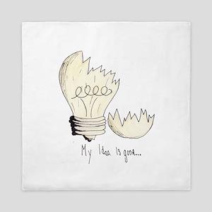 Broken Light Bulb Idea Queen Duvet