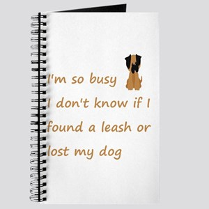 Funny Quote for the Stressed Busy Dog Owner Journa