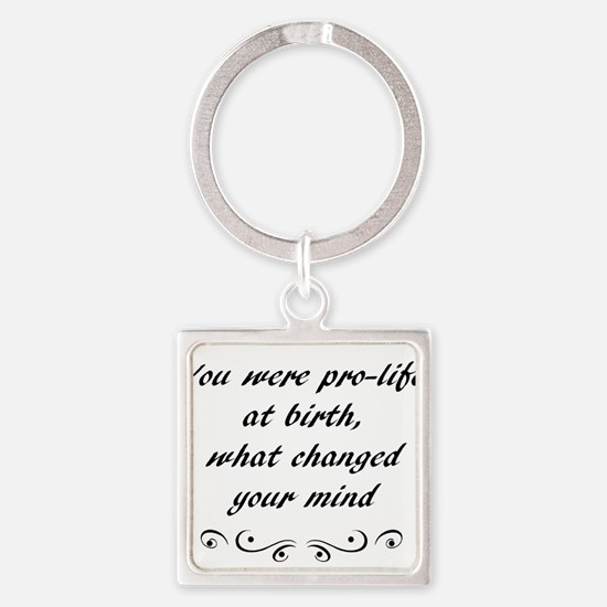 prolife at birth wht Keychains