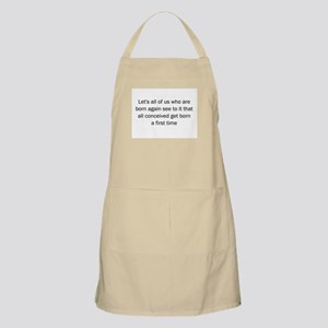 Christian saying Apron