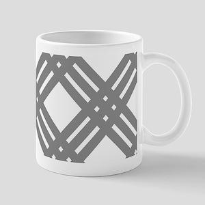 Gray Gingham Lattice Mugs