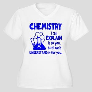 CHEMISTRY Women's Plus Size V-Neck T-Shirt