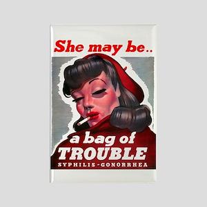 No Bad Evil Women Rectangle Magnet