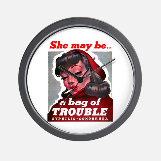 No Bad Evil Women Wall Clock