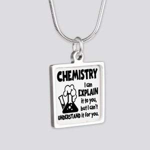 CHEMISTRY Silver Square Necklace