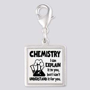 CHEMISTRY Silver Square Charm