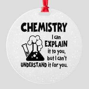 CHEMISTRY Round Ornament