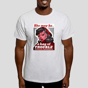 No Bad Evil Women (Front) Light T-Shirt