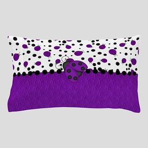 Fun Purple Ladybugs Pillow Case