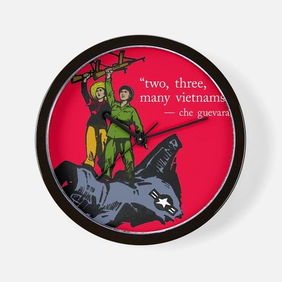 2, 3, Many Vietnams Wall Clock