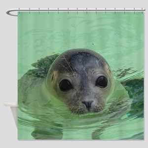 sweet SEAL Shower Curtain
