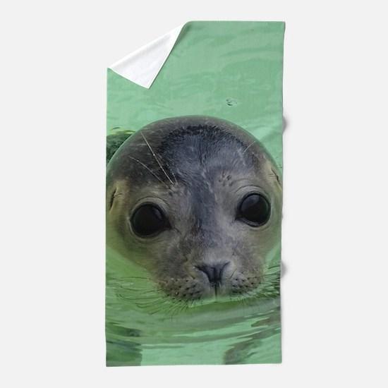 sweet SEAL Beach Towel