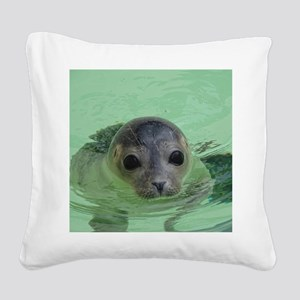 sweet SEAL Square Canvas Pillow