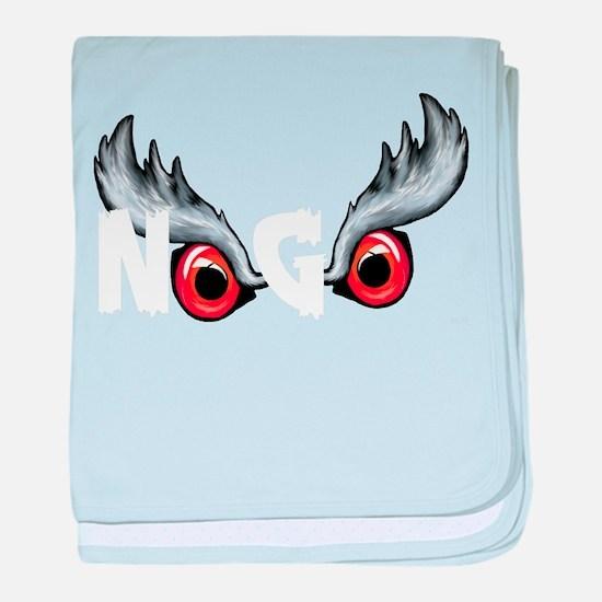 Northern Goshawk - White letters baby blanket