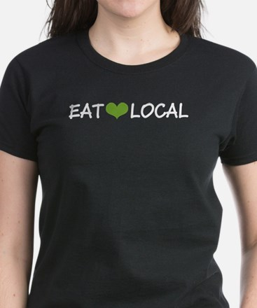 Eat Local Women's Dark T-Shirt