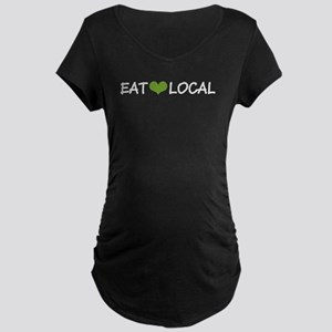 Eat Local Maternity Dark T-Shirt