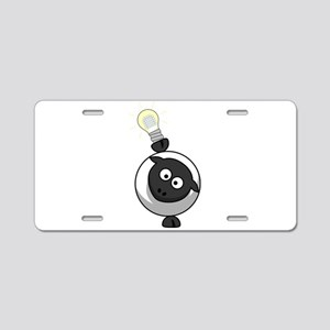 Sheep With LED Lamp Aluminum License Plate
