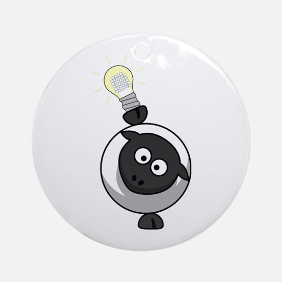 Sheep With LED Lamp Ornament (Round)