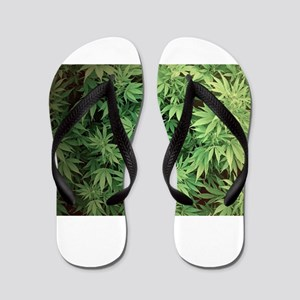 Marajuana Weed Pot Flip Flops