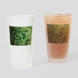 Marajuana Weed Pot Drinking Glass