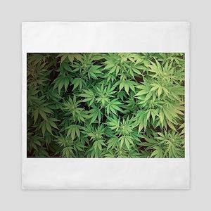 Marajuana Weed Pot Queen Duvet