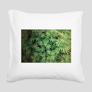 Marajuana Weed Pot Square Canvas Pillow