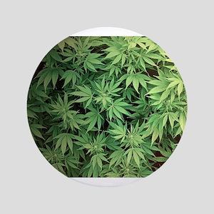 Marajuana Weed Pot Button