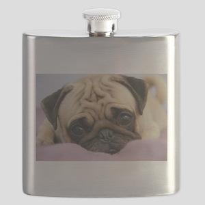 Pug Puppy Flask