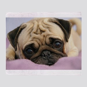 Pug Puppy Throw Blanket