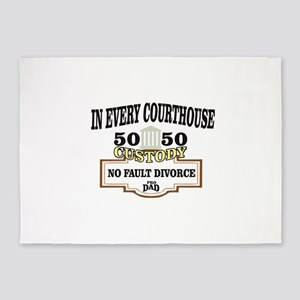 50 50 custody in every courthouse 5'x7'Area Rug