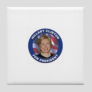 Hillary Clinton Tile Coaster