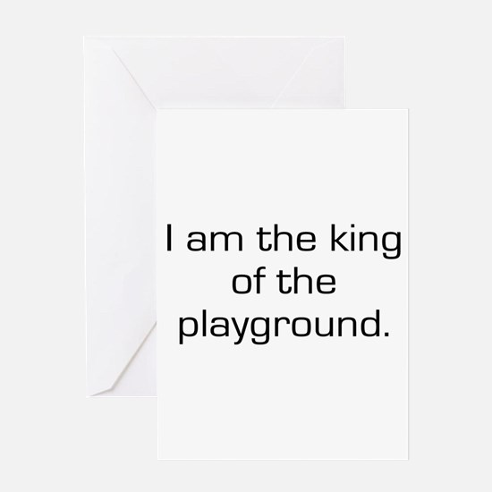 King of Playground Greeting Card