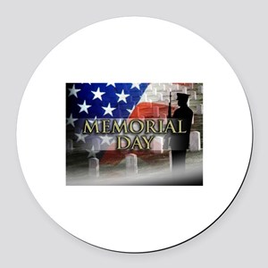 Memorial Day Round Car Magnet
