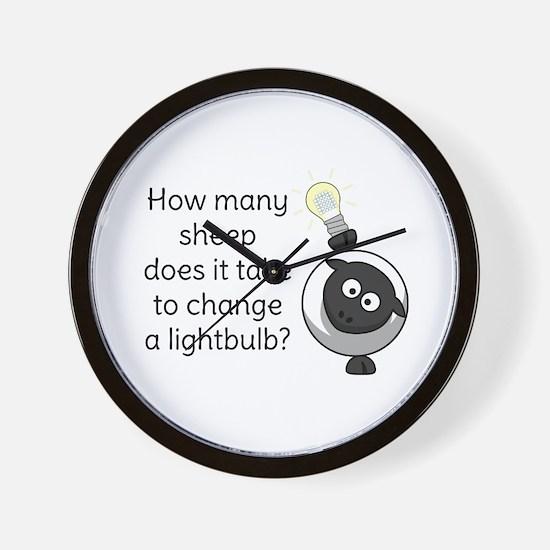 How Many Sheep Does It Take Wall Clock