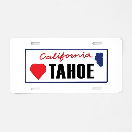 Love Lake Tahoe Aluminum License Plate