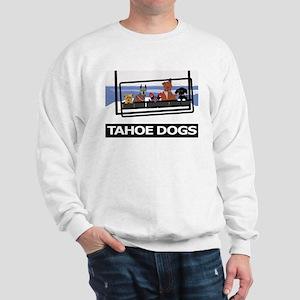 Tahoe Dogs on Ski Lift Sweatshirt
