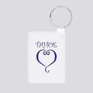 Tahoe Heart Aluminum Photo Keychain