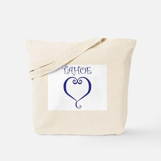 Tahoe Heart Tote Bag