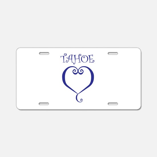 Tahoe Heart Aluminum License Plate