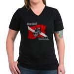 SEA WOLF Women's V-Neck Dark T-Shirt