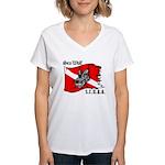 SEA WOLF Women's V-Neck T-Shirt