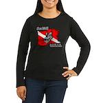 SEA WOLF Women's Long Sleeve Dark T-Shirt