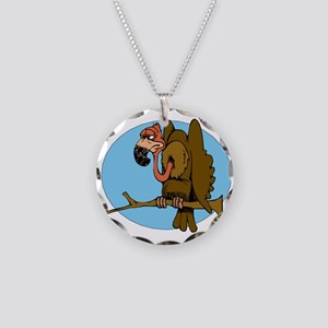 vulture Necklace Circle Charm