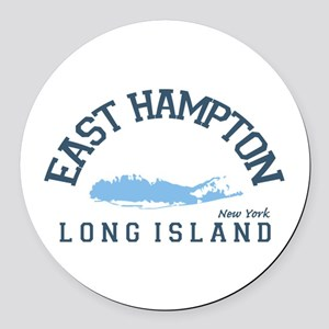East Hampton - New York. Round Car Magnet