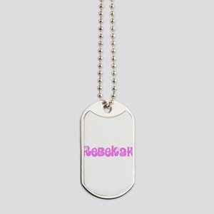 Rebekah Flower Design Dog Tags