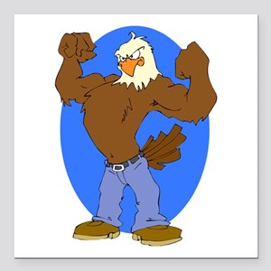 "Bald Eagle Square Car Magnet 3"" x 3"""