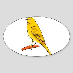 canary and bluebird Sticker (Oval)